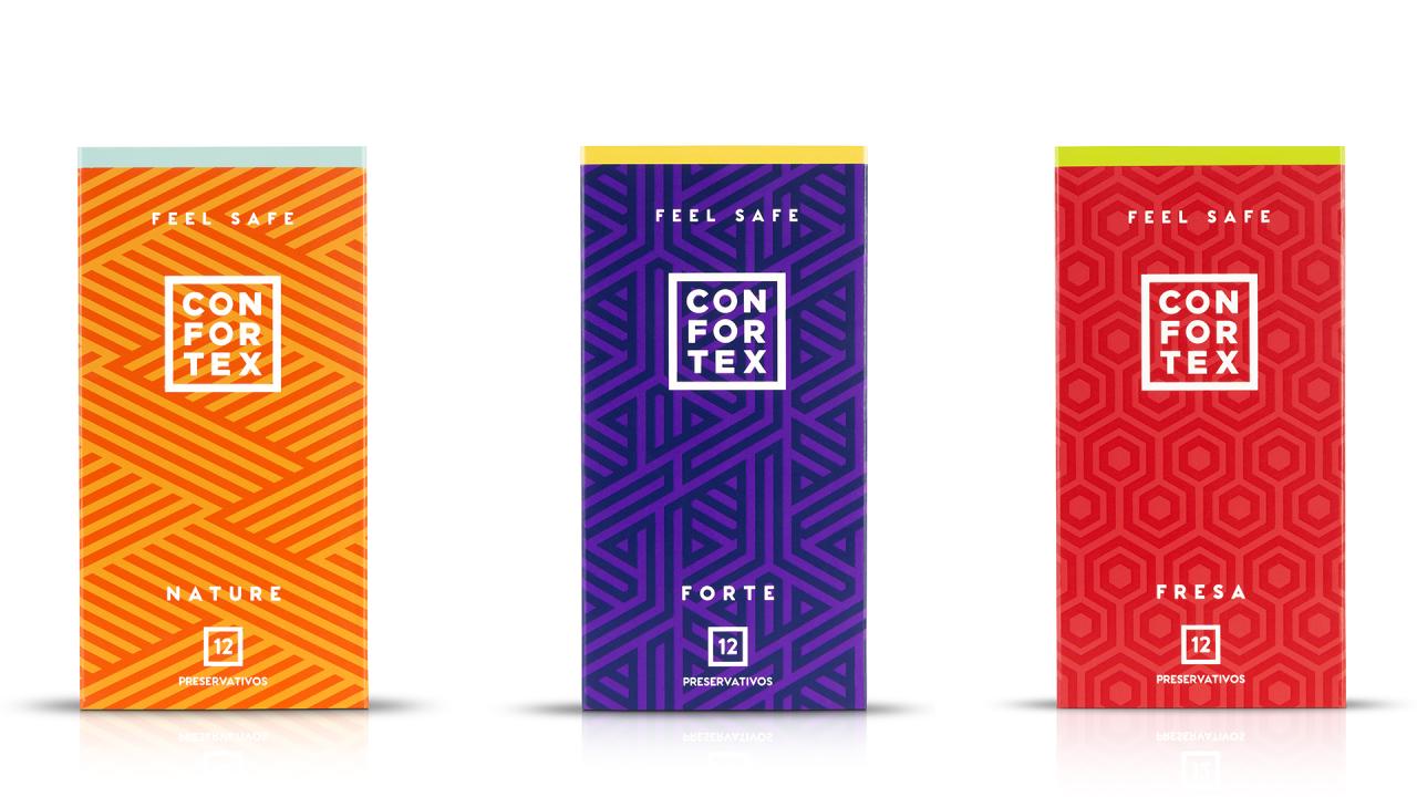 Diseños de condones Confortex