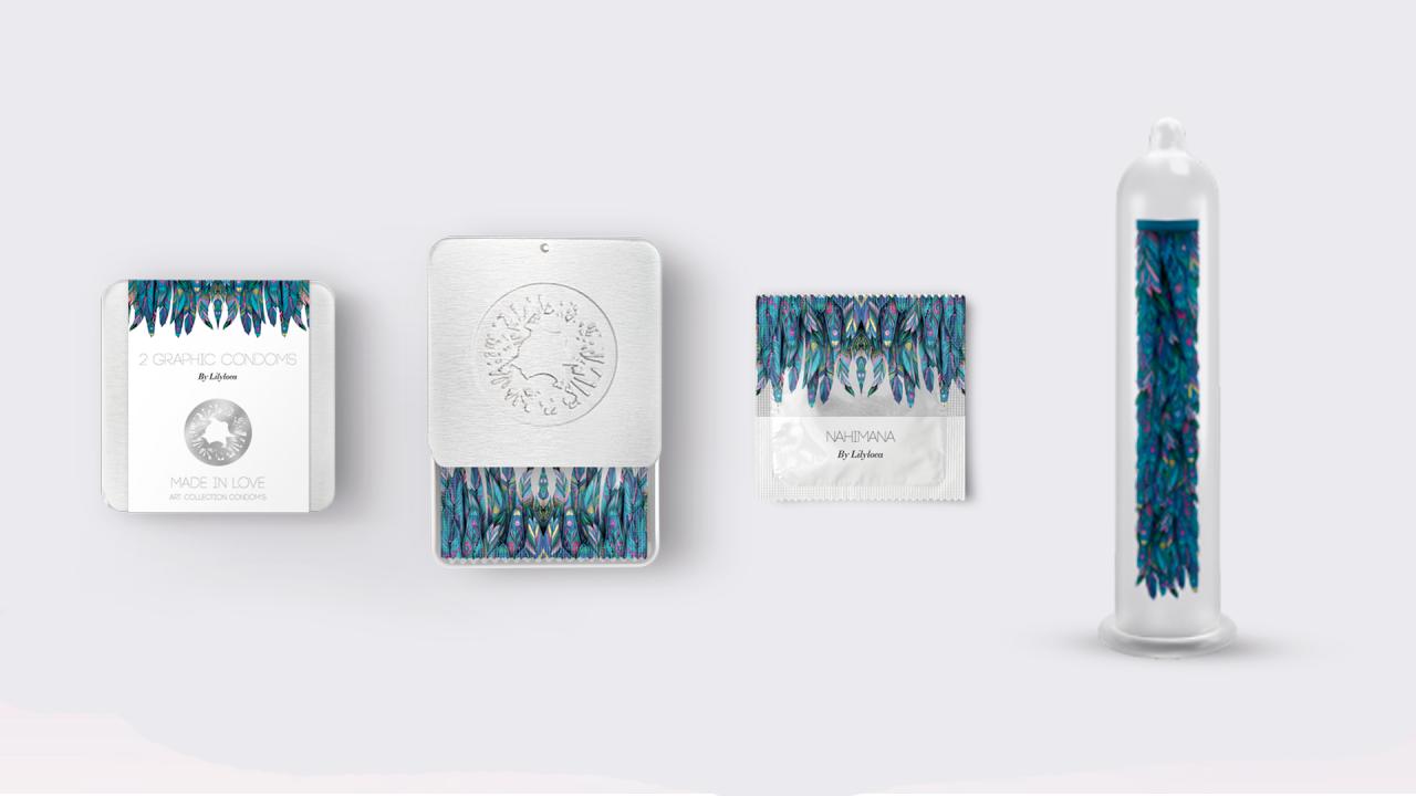 obras de arte en condones